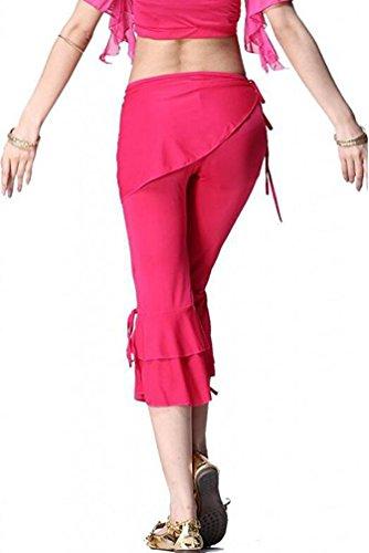 YuanDian Donna Estate Colore Solido Danza Del Ventre Orientale Pantaloni Costumi Slim Fit Bassa Vita Araba Belly Dance Tribal Capri Pantaloni Danza Abbigliamento Rose