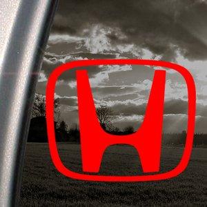 Honda Civic Rosso VTEC-Adesivo da auto finestra adesivo rosso