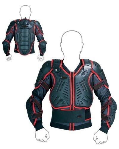WinNet corpetto pettorina giacca protettiva rosso con protezioni per bimbo bambino minimoto mini cross pit bike quad enduro equitazione sci