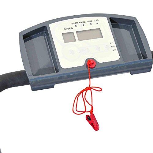 Homcom Laufband Elektrisches mit LED Display Heimtrainer Fitnessgerät 500 W, B1-0094 - 5