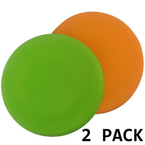Hundefrisbee, Comsun 2er Hunde Frisbee, Flying Dog Disc, faltbar, 18cm, Weiche Trainings Wurfscheibe, Naturgummi Hundespielzeug für Große & Kleine Hunde Orange+Grün