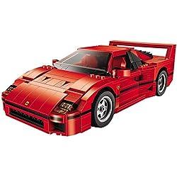 Mezzeno Montaje de Bloques de construcción para niños Juguetes educativos 21004 Ferrarie F40 Kit de Bloques de construcción de Modelos de Autos Deportivos Juguetes compatibles 10248