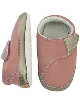 Melton Baby Mädchen Leder-Krabbelschuhe-Cross   Krabbel-& Hausschuhe, Pink (Dusty Rose507), 24/25 EU