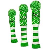 Aishanghuayi-ou Cubierta for la Cabeza del Club de Golf, Exquisito y Duradero Protector for la Cabeza del Club de Golf, Hombres y Mujeres de Punto de Lana, Primera Madera/Madera de Calle/Poste de