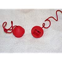 Billiard rubber chalk holder red set of 2 w/ tether by Viper