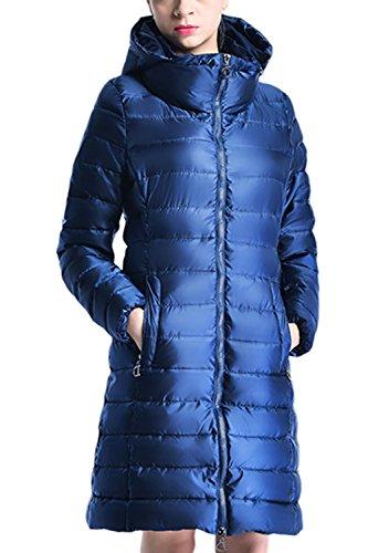Les Fermes À Capuchon Long Hiver Matelassé Occasionnels Outcoat - Globe blue
