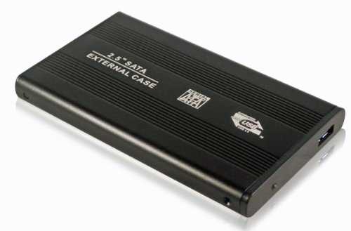 LUPO Externes portables Gehäuse für SATA 2,5-Zoll-Festplatte HDD - SCHWARZ