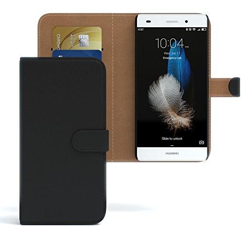 Huawei Ascend G610 Hülle Bookstyle mit Standfunktion I von EAZY CASE I Book-Style Case aufklappbar, Schutzhülle, Flipcase, Flipstyle, Flipcover mit 2 Kartenfächern aus Kunstleder, Schwarz