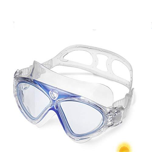 Schwimmbrillen Professionelle Anti-Fog- Und Anti-Uv-Schwimmbecken Für Erwachsene Wasserbrillen Wiederverwendbare Langlebige Praktische Modische Leicht Zu Reinigende Verstellbare Schultergurte Blau