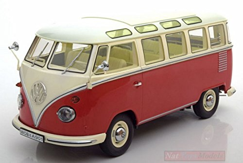 KK SCALE KKDC180151 VW T1 SAMBA BUS 1959 RED/CREME 1:18 MODELLINO DIE CAST MODEL