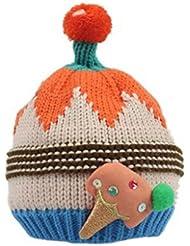 Smile YKK–Regla cálido multicolor hoja de arce de punto Pompone Earcuff sombrero