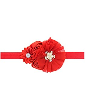 Zhhlaixing Baby Girls Toddler Kids Elastic Red Bouquet Headband Hairband Hair Accessories for Christmas/Photography...