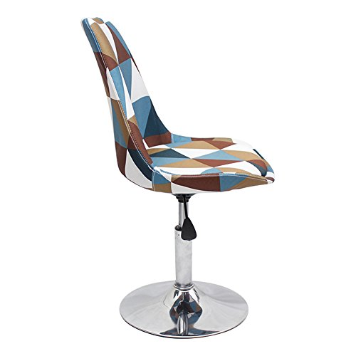 Mena Uk Tabouret à la maison traditionnel de chaise d'ordinateur, taille réglable 40-50 de siège, capacité maximum de poids 135kg (Couleur : Plaid, taille : 40 cm)