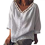 Bfmyxgs Women Summer Casual Lace Floral Loose Maxi Basic Oversize Blouse Tops T-Shirts