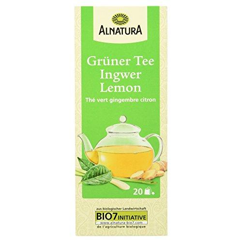 Tee Ingwer Grüner (Alnatura Bio Grüner Tee Ingwer Lemon, (20x 1,5 g))