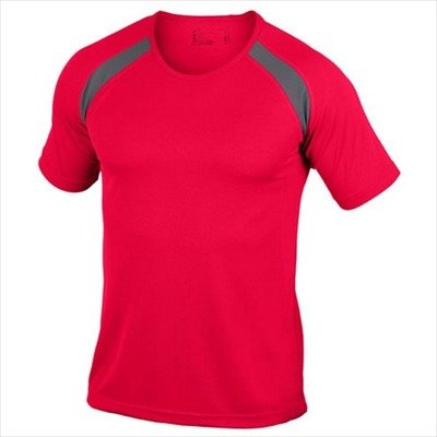 Hanes - Men's Tagless Crew Neck T Contrast Sports 3XL,Red