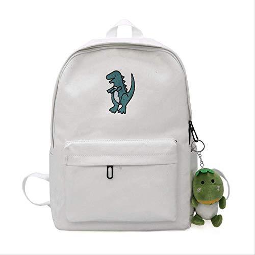 Dinosaurier Gestickte Dame Backpack, Schultasche Junior Girl Koreanische Art-Spielraum-Tägliche Rucksack-Tasche