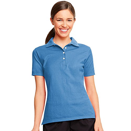 Hanes da donna traspirante x-temp polo Neon Blue Heather