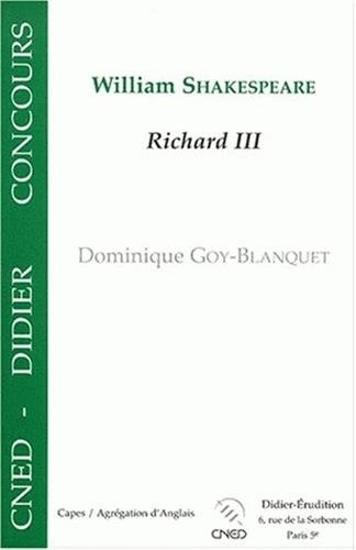William Shakespeare : Richard III