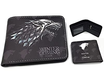 Game Of Thrones Stark Winter Grey Wolf Bi-Fold Wallet