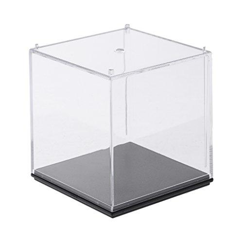 FLAMEER La Caja De Exhibición A Prueba De Polvo De 3 Pasos De La Exhibición para La Figura del Amiibo Funko Pop Protege - 7x7x7cm