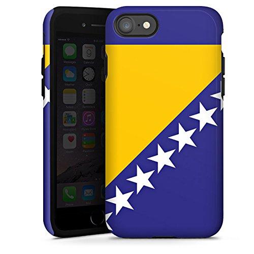 Apple iPhone X Silikon Hülle Case Schutzhülle Bosnien Flagge Fußball Tough Case glänzend