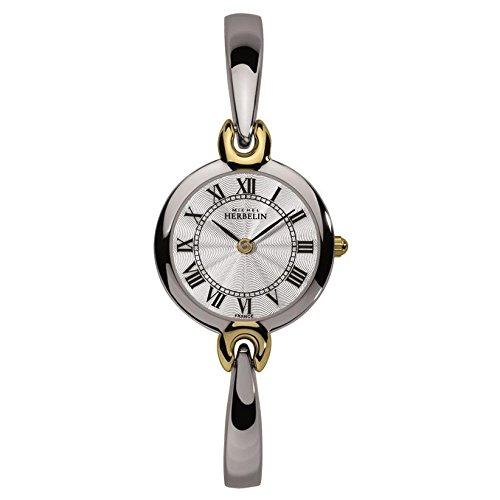 MICHEL HERBELIN Women's SALAMBO 25MM Steel Bracelet Quartz Watch 17402/BT08