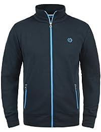 SOLID BennTrack Herren Sweatjacke Zip-Jacke mit Stehkragen aus hochwertiger Baumwollmischung Meliert