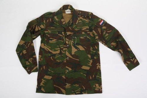 Camicia uomo invernale olandese mimetica militare pesante bottoni cotone canvas