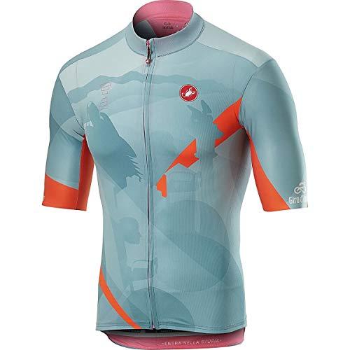 Castelli Fieltro Croce D'Aune Jersey, Camiseta Ciclismo Hombre, Hombre, 9510206, BLU Polvere, L