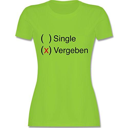 Statement Shirts - Vergeben - Damen T-Shirt Rundhals Hellgrün