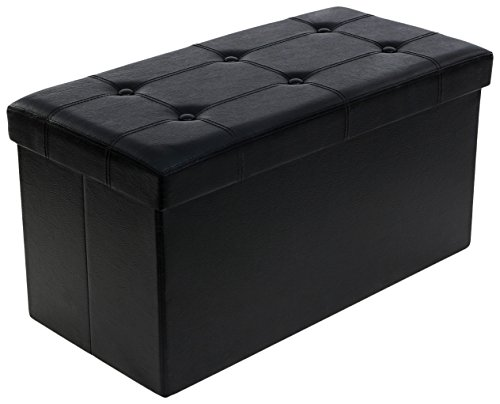 songmics-ottoman-storage-bench-toy-box-blanket-strong-and-durable-foldaway-faux-leather-black-76-x-3