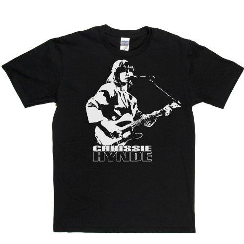 Chrissie Hynde American Rock Singer Live T-shirt Schwarz