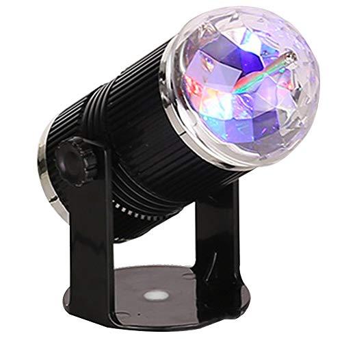 WYMI DJ Disco Bühne Licht Mini Stern Kristall Magic Ball Projektor Lampe Party Lichter Sound LED Strobe Licht Tragbare 7 Modi für Home Room Geburtstag Bar Karaoke Hochzeit Party mit Fernbedienung (Licht Bars Strobe)