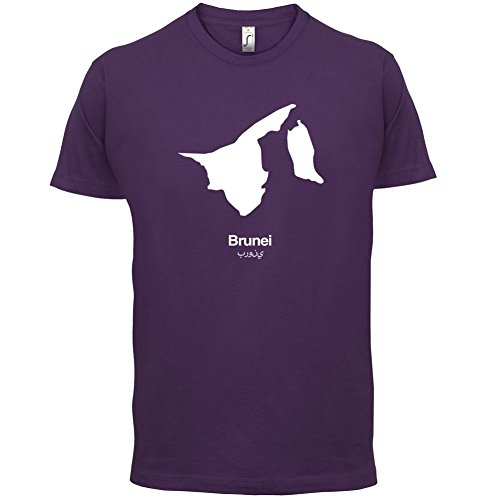 Brunei Silhouette - Herren T-Shirt - 13 Farben Lila