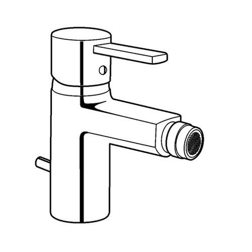 Kludi Waschtisch-Einhebelmischer Zenta mit Garnitur, festem Auslauf, verchromt/weiß, 385309175