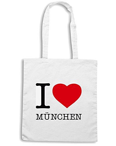 T-Shirtshock - Borsa Shopping TLOVE0055 i love mnchen Bianco