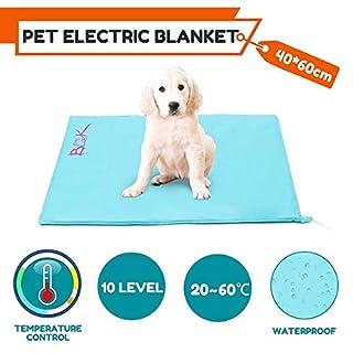 NBDPF Pet Heating Pad 10 Levels Electric Pet Self Heating Mat Waterproof Dustproof Warm Winter Soft Pad Dog Cat Bed Cover 30 Watt