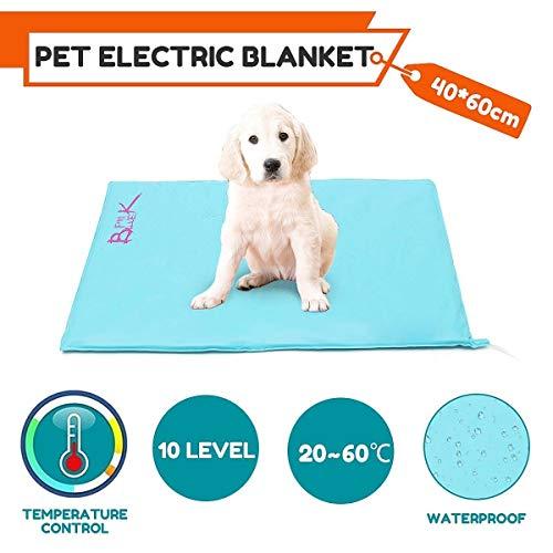 NBDPF Pet Heizung Pad 10 Ebenen Elektrische Pet Self Heizung Matte Wasserdicht Staubdicht Warme Winter Weiche Pad Hund Katze Bettdecke 30 Watt (Elektrischer Ebene)
