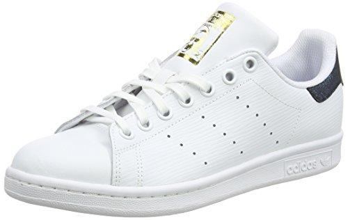 adidas Stan Smith J, Chaussures de Fitness Mixte Enfant, Blanc (Ftwbla/Ftwbla/Dormet 000), 37 1/3 EU