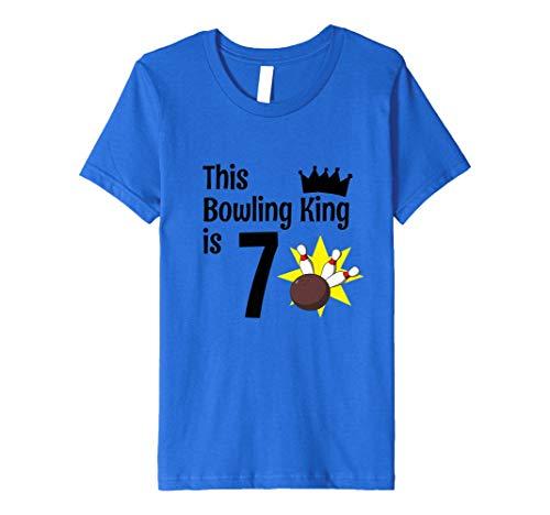 Kinder Kinder 7Jahre Old Bowling Geburtstag Party 7. King Geburtstag T-Shirt Preisvergleich