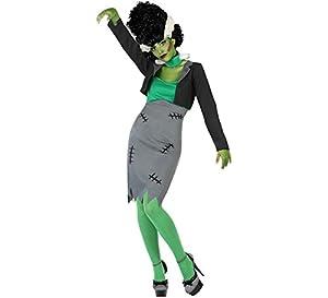 Atosa-53981 Atosa-53981-Disfraz Zombie para mujer adulto-talla, color verde, Xs-s (53981)