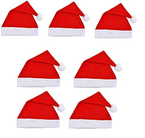 Ote Pack Of 7 Christmas Hats - Free Size