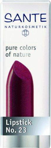 SANTE Naturkosmetik Lipstick No. 23 poppy red, Lippenstift, Transparente bis intensive Farben, Zart pflegend & sanft schützend, 4,5g