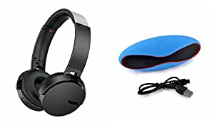 MIRZA Extra Bass XB650 Headphones & Bluetooth Speaker for MICROMAX CANVAS PLAY 4G(Extra Bass XB 650 Headphones,With MIC,Extra Bass,Headset,Sports Headset,Wired Headset & Rugby Bluetooth Speaker )