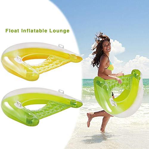 Hook.s Aufblasbare Float Lounge Floating Row Umweltfreundliche PVC Safe Swimming Pool Wasserbett Sitz für Erwachsene