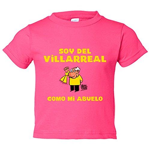 Camiseta niño soy del Villarreal como mi abuelo Jorge Crespo Cano - Rosa, 12-18 meses