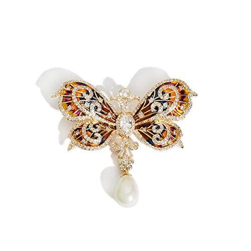 Nosterappou Exquise et élégante Broche Papillon rétro Costume Broche décorative, Mode et personnalité Plus Attrayant Petit Collier de Broche, Cadeau étonnant