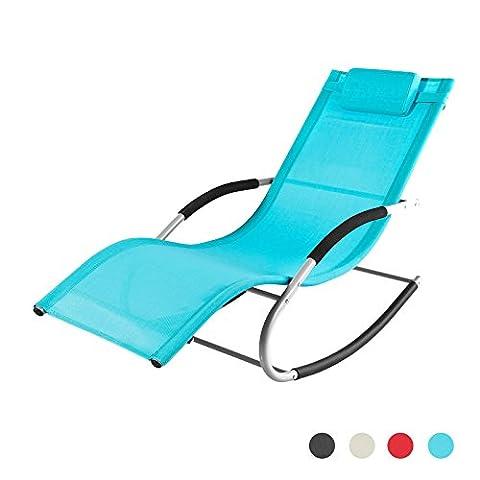 SoBuy® OGS28-HB Fauteuil à bascule Chaise longue Transat de jardin