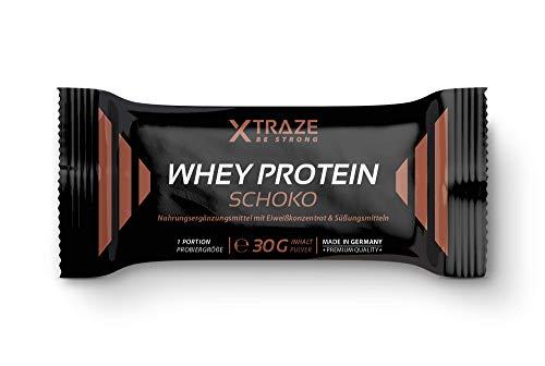 Whey Protein Pulver für Eiweiß-Shakes 30 g Probierpack Molkenprotein-Konzentrat + Isolat + BCAA - Qualität aus Deutschland - ohne Zusatzstoffe - für Kraftsport | Bodybuilding | Fitness (1 Stick á 30g)